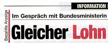 Eigenwerbung von SPÖ und ÖVP