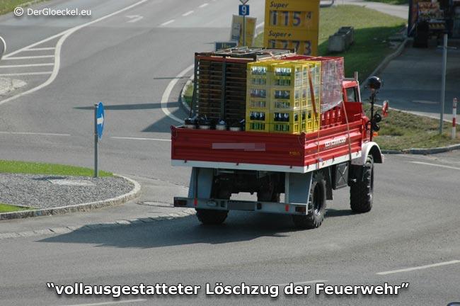 Sondertransport der Feuerwehr