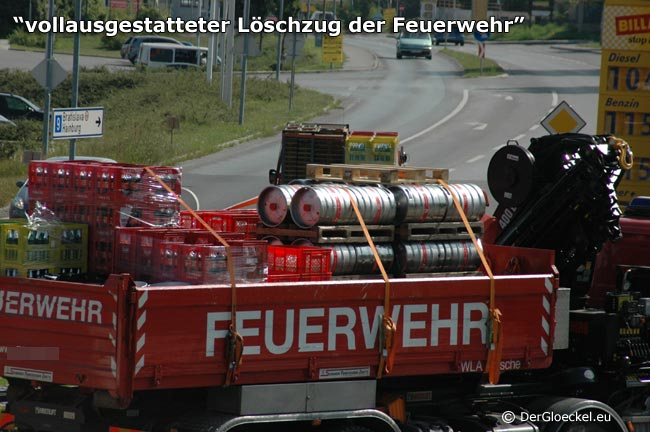 Löscheinsatz der Feuerwehr