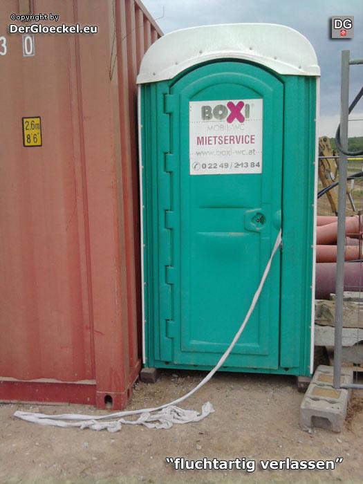 WC-Box - fluchtartig verlassen