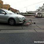 Pkw gegen Fahrrad