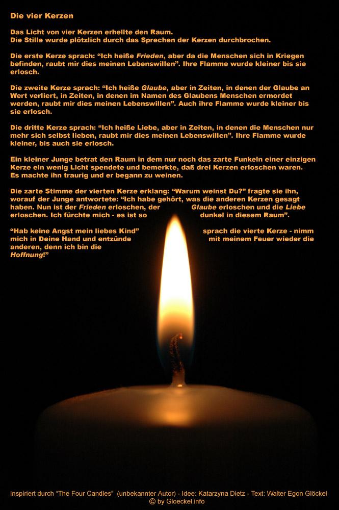 Die vier Kerzen von Walter Egon Glöckel