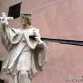 verschandelte Nepomuk-Statue in Hainburg | Foto: DerGloeckel.eu